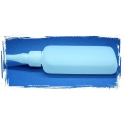 Leerflaschen oval mit Spitze und Deckel 100 ml